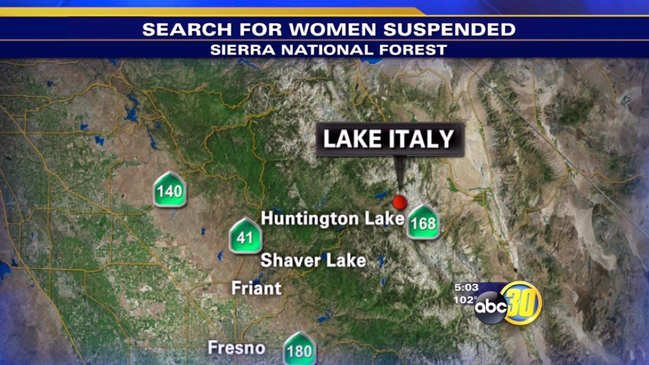 Search suspended for women missing near Huntington Lake
