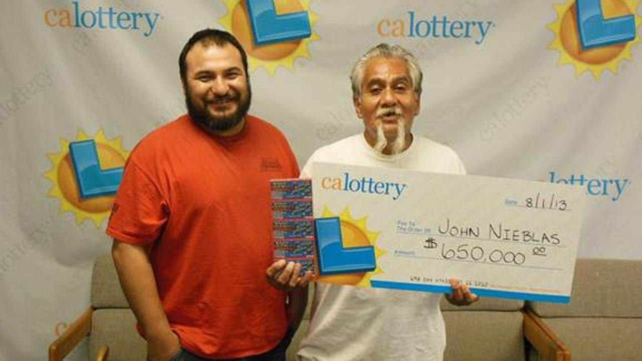 California Lottery winner John Nieblas of Fresno