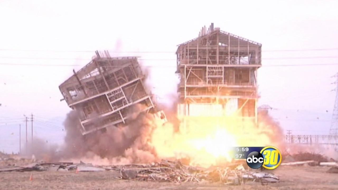 5 spectators injured at old power plant implosion in Bakersfield