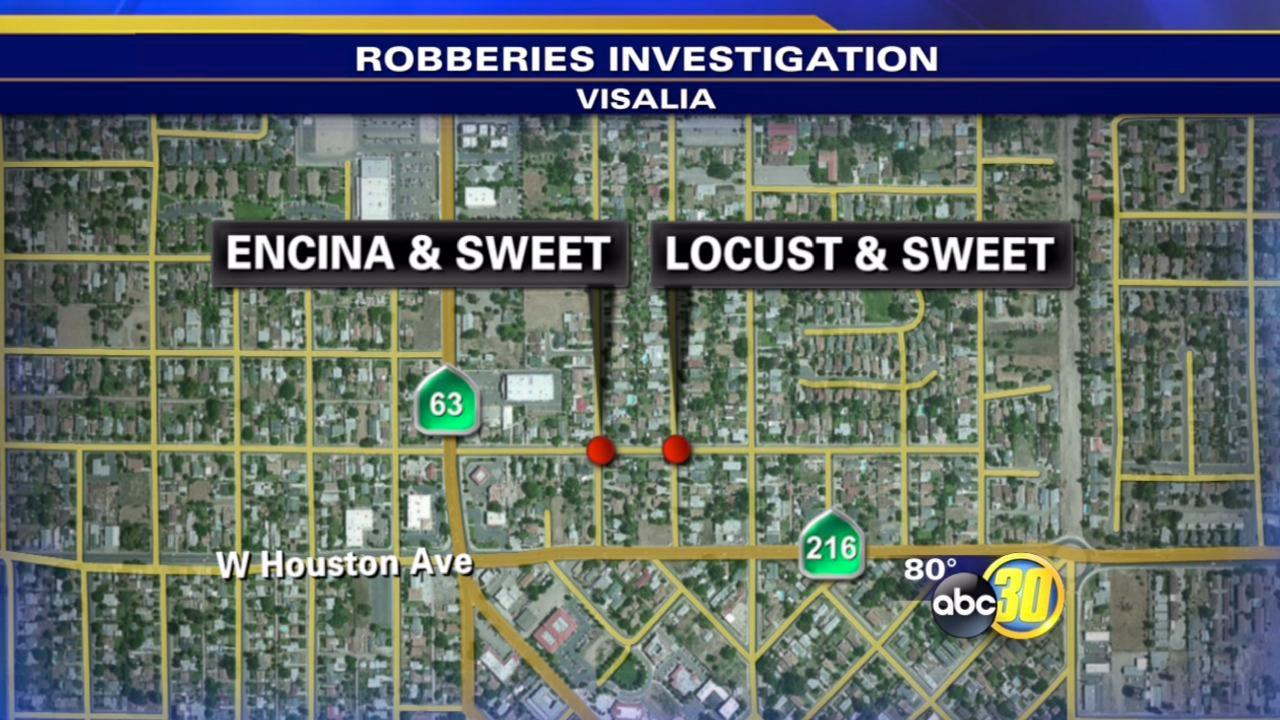 2 Visalia robberies believed to be connected
