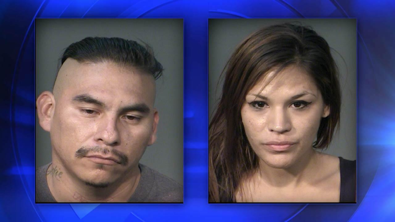 Identity theft suspects Phillip Paul Marquez, 31, and Adriana Nichole Trevino, 24