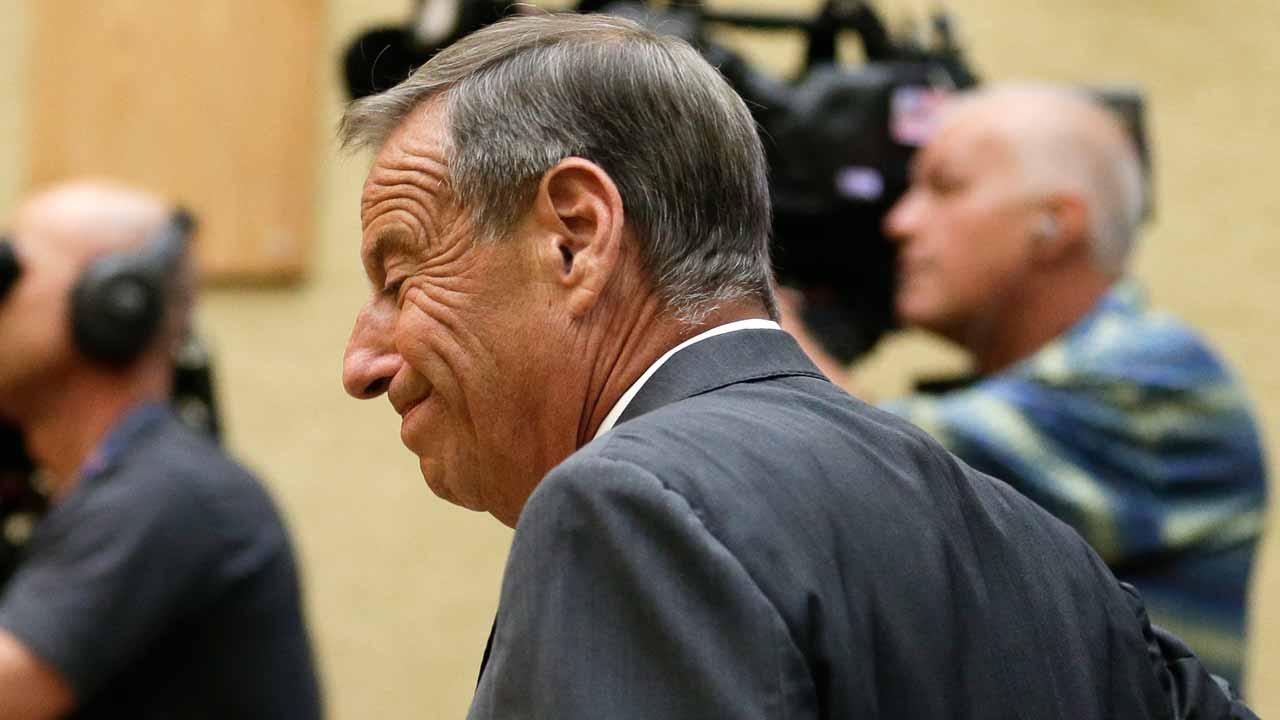 San Diego Mayor Bob Filner arrives to speak to city council during a city council meeting Friday, Aug. 23, 2013, in San Diego. Filner agreed Friday to resign on Aug. 30, bowing to enormous pressure after lurid sexual harassment allegations brought by at least 17 women eroded his support after just nine months as leader of the U.S. border city. (AP Photo/Gregory Bull)