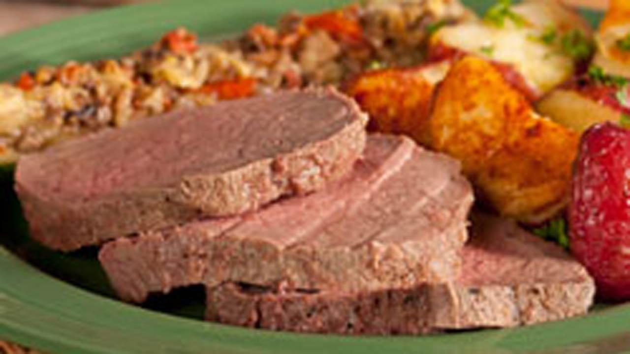 Salt and Pepper Crusted Beef
