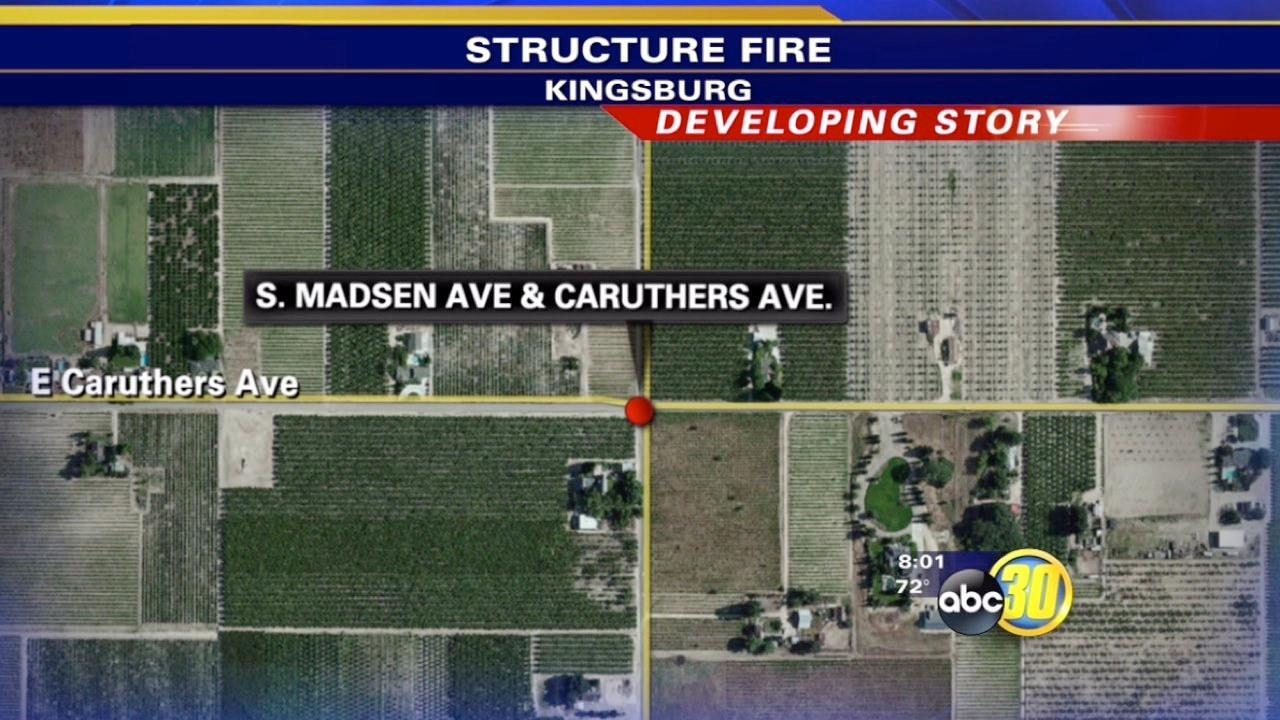 Fire officials investigate abandoned house fire near Kingsburg