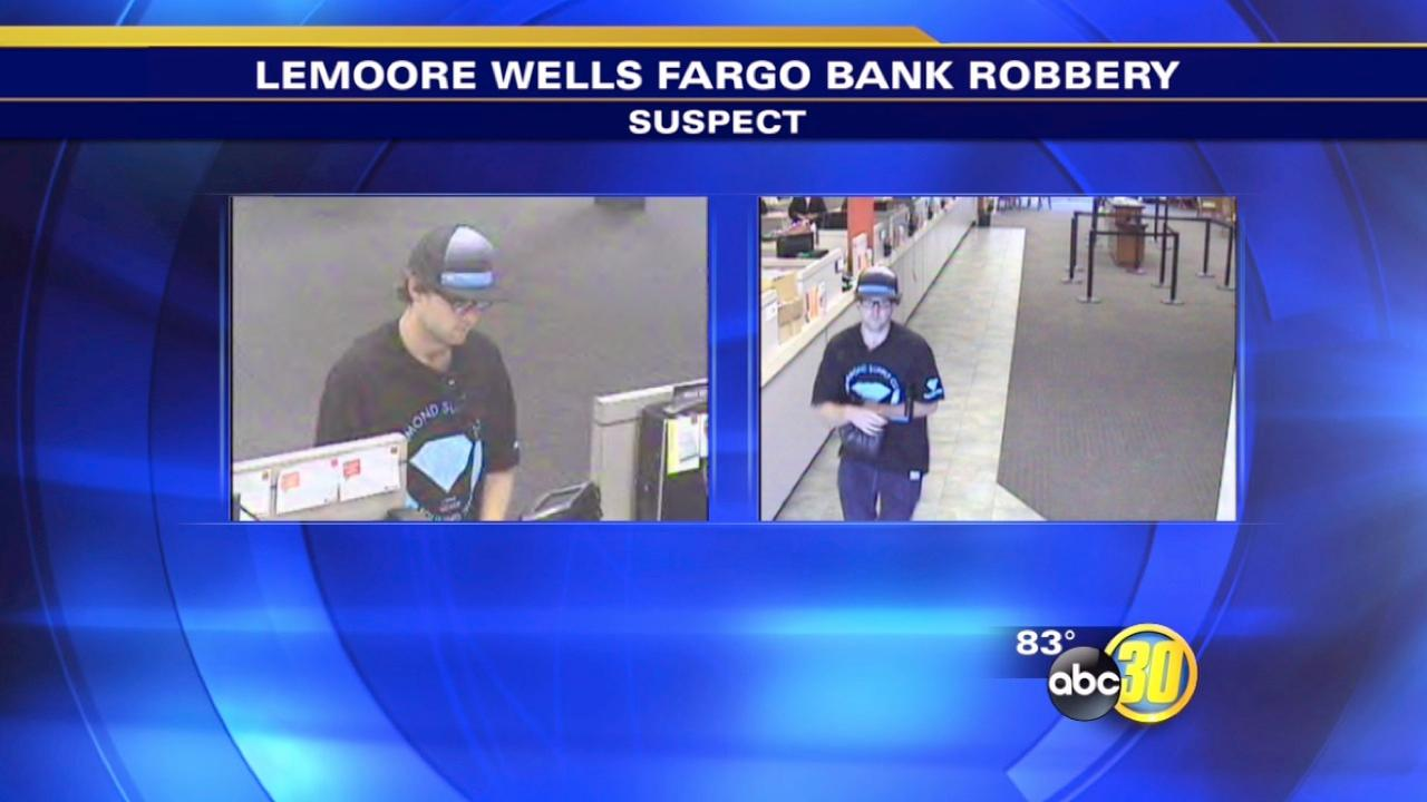 Lemoore police search for a Wells Fargo Bank robbery suspect