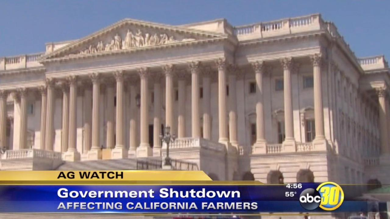 Government shutdown affects California farmers