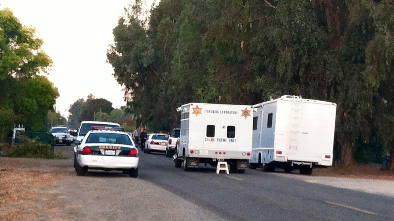 The scene of an officer involved shooting in Fresno County