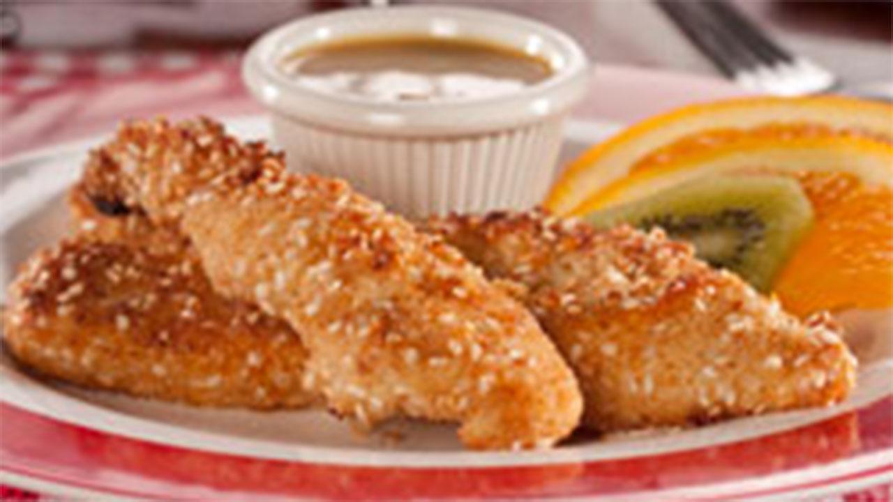 Sesame Chicken with Honey Sauce