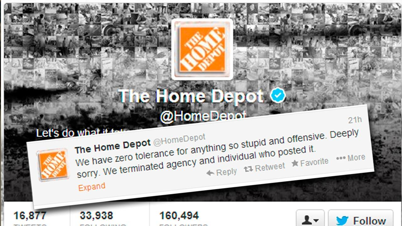 Home Depot Twitter Page
