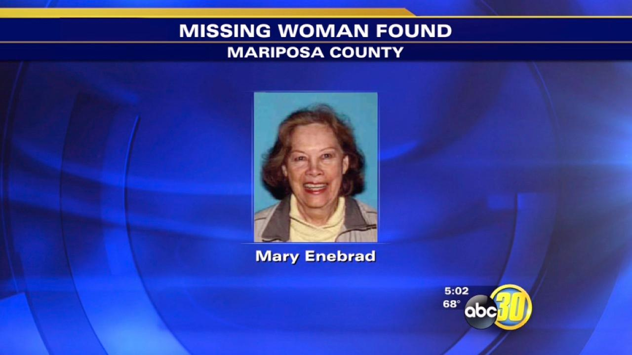Elderly woman missing from Mariposa County found safe