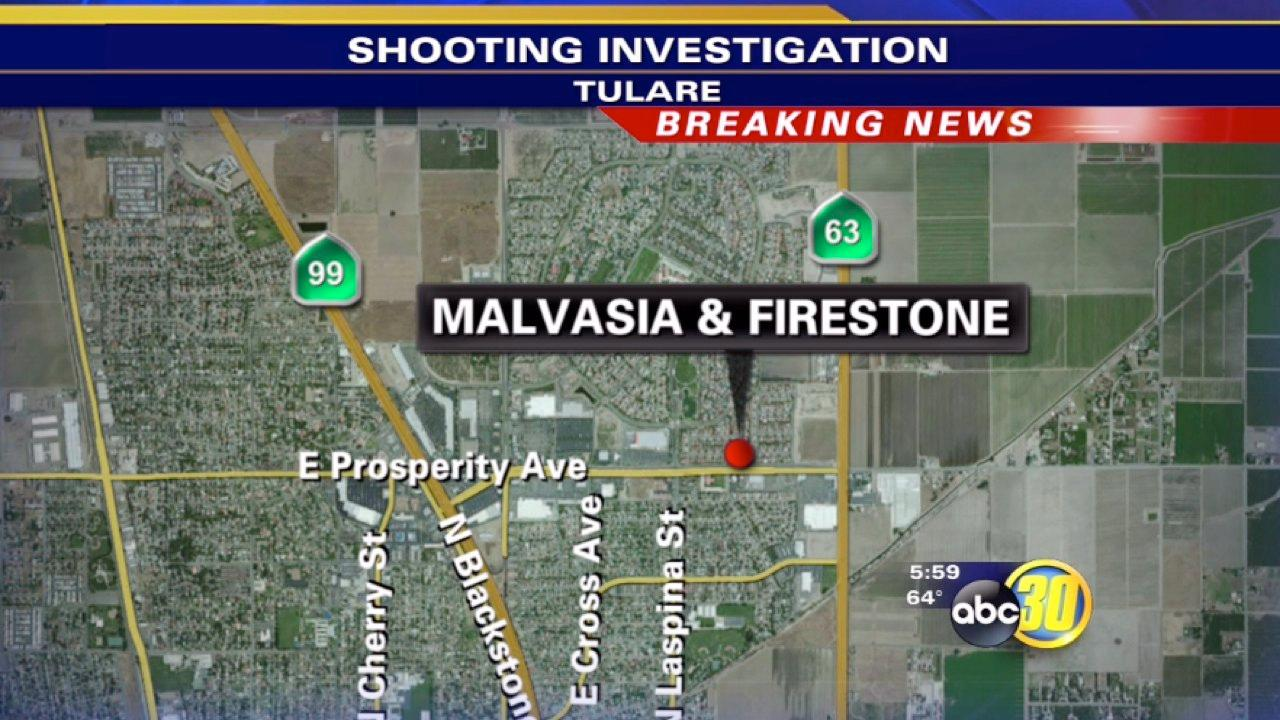 Man shot in Tulare Ave. on Malvasia Drive near Firestone