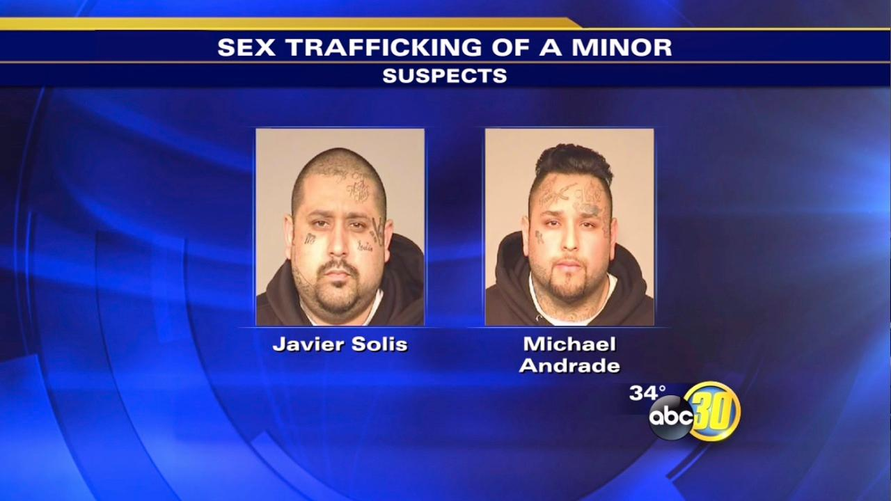 2 arrested on sex trafficking charges involving a minor in Fresno