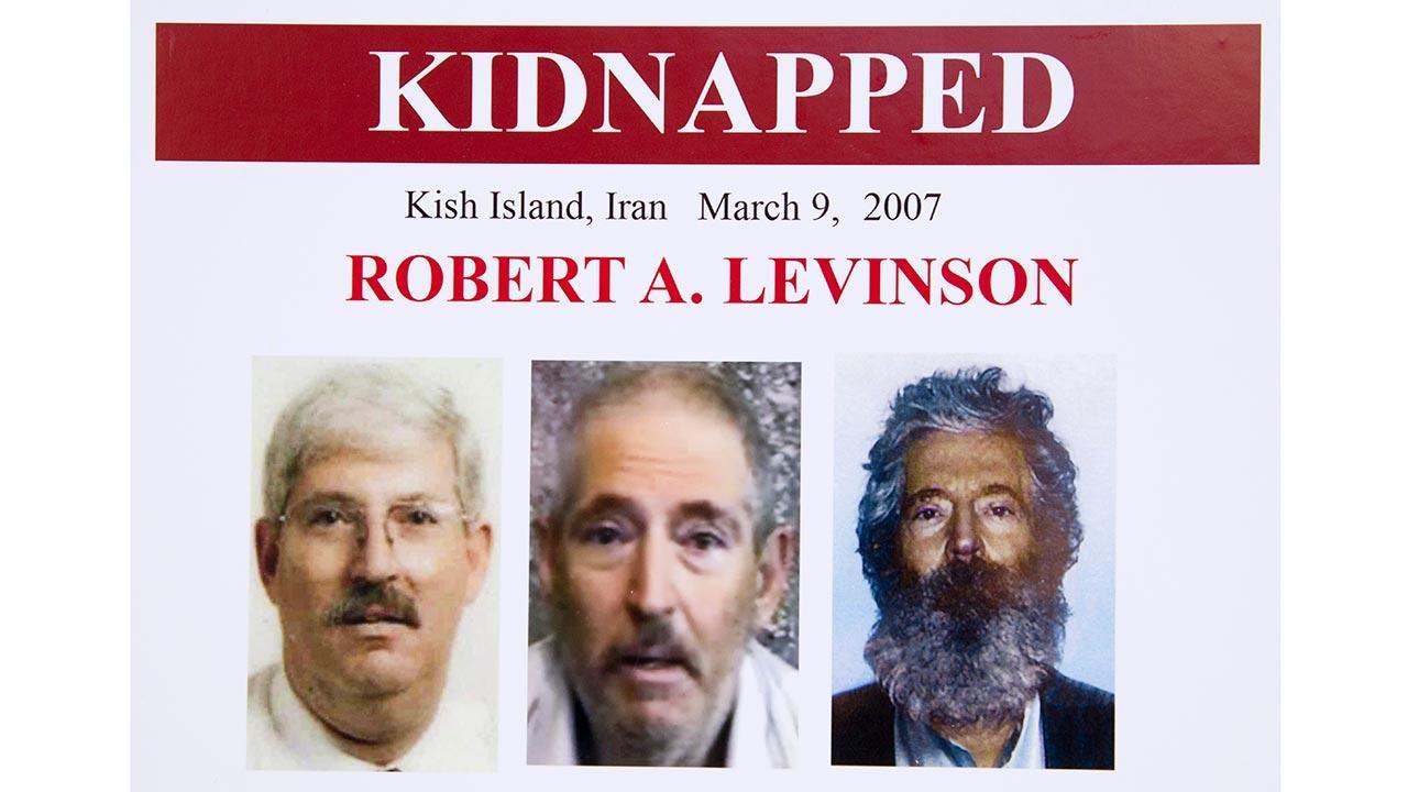 An FBI poster showing a composite image of former FBI agent Robert Levinson