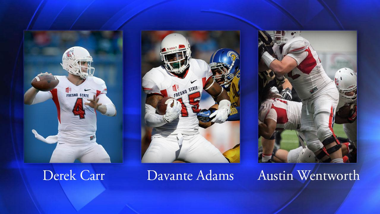Quarterback Derek Carr, wide receiver Davante Adams, and offensive linemen Austin Wentworth have all received Honorable Mentions in Sports Illustrated 2013 All-American Team.