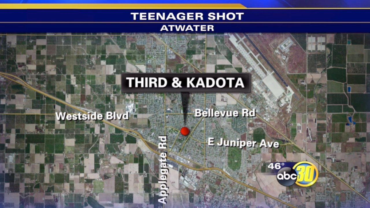 Teen shot on Third Street and Kadota Avenue in Atwater