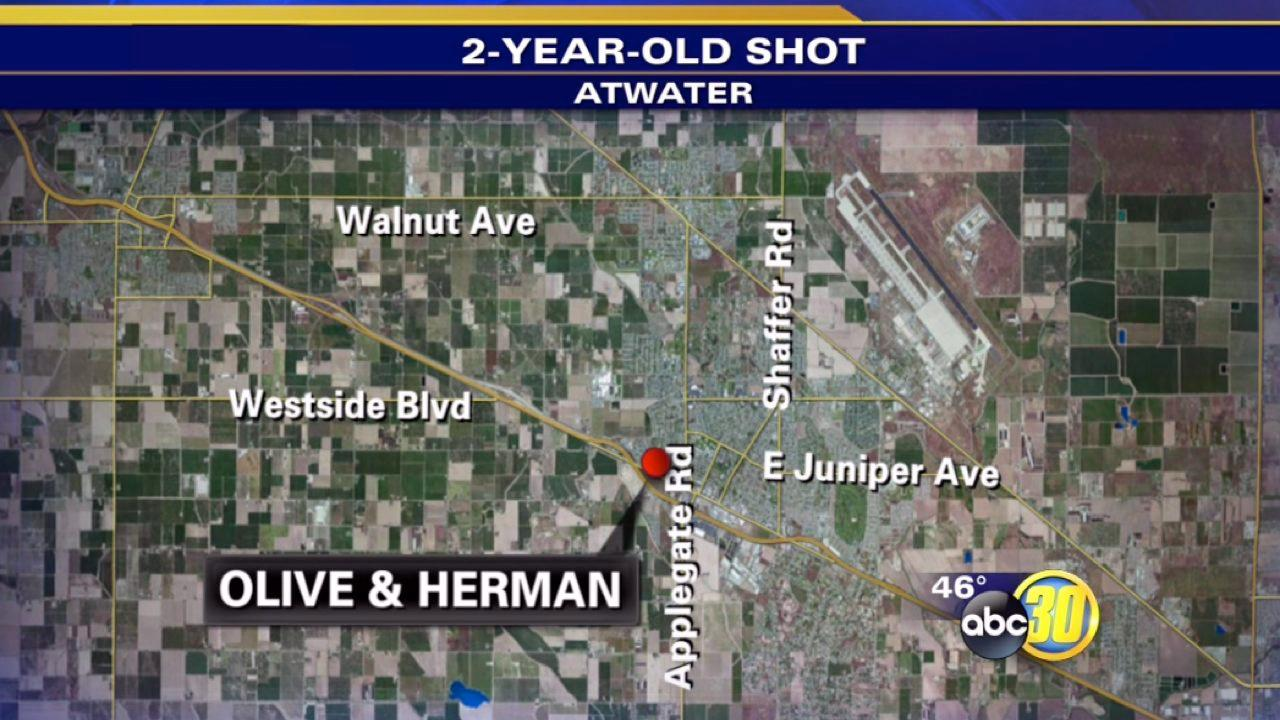 2-year-old shot in the thigh in Atwater