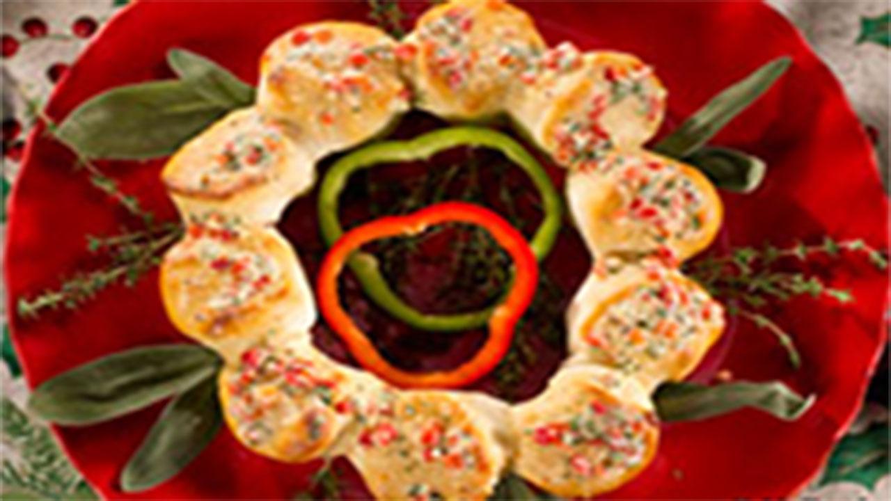 Parmesan Bread Wreath