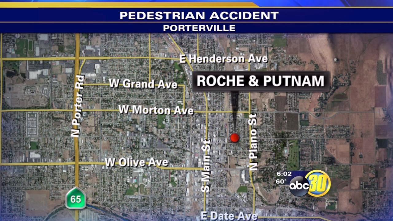Porterville boy hospitalized after hit by car