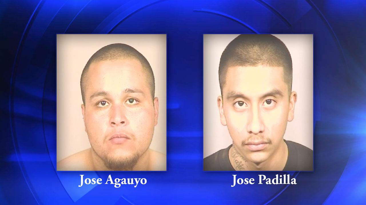 Reedley shooting suspects 20-year-old Jose Agauyo (left) and  23-year-old Jose Padilla (right)