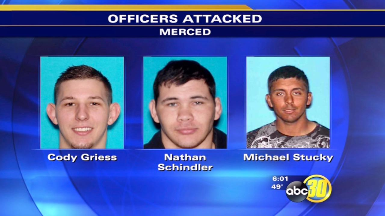 2 officers and K-9 attacked in Merced