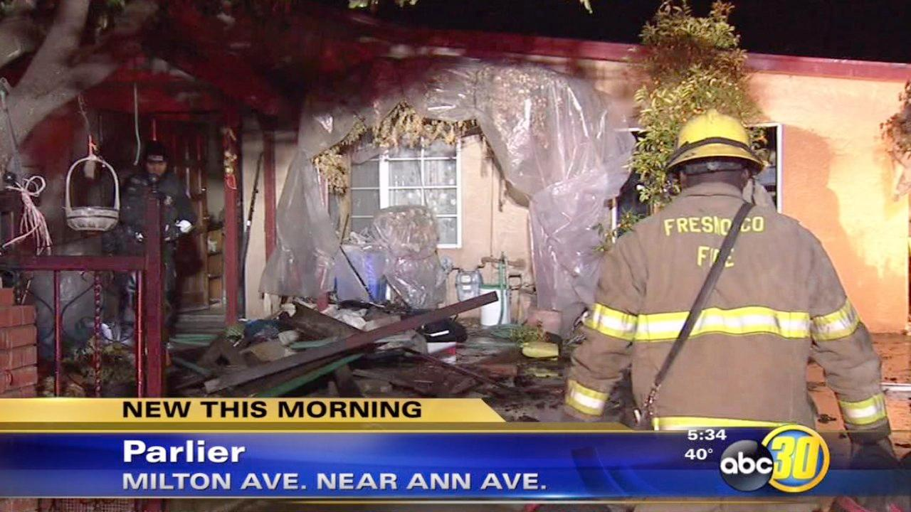 Parlier house fire displaces eight