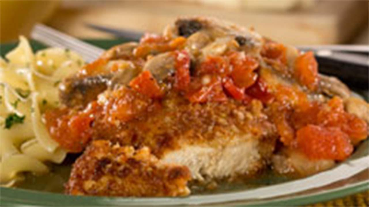 Asiago Crusted Chicken