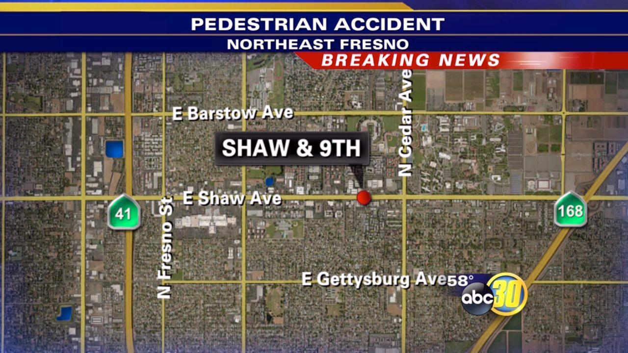 Fresno PD: Man hit by car while jaywalking