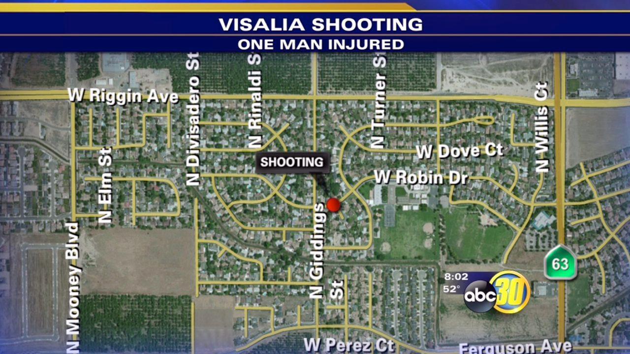 Visalia shooting sends man to hospital