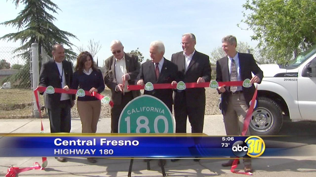Ribbon-cutting ceremony for Fresno braided ramps