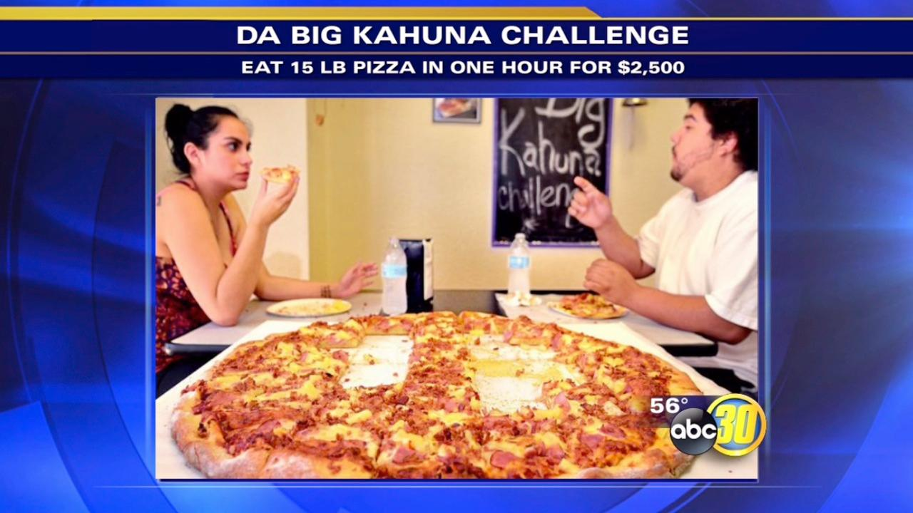 Eat giant pizza in Manteca and receive $2,500