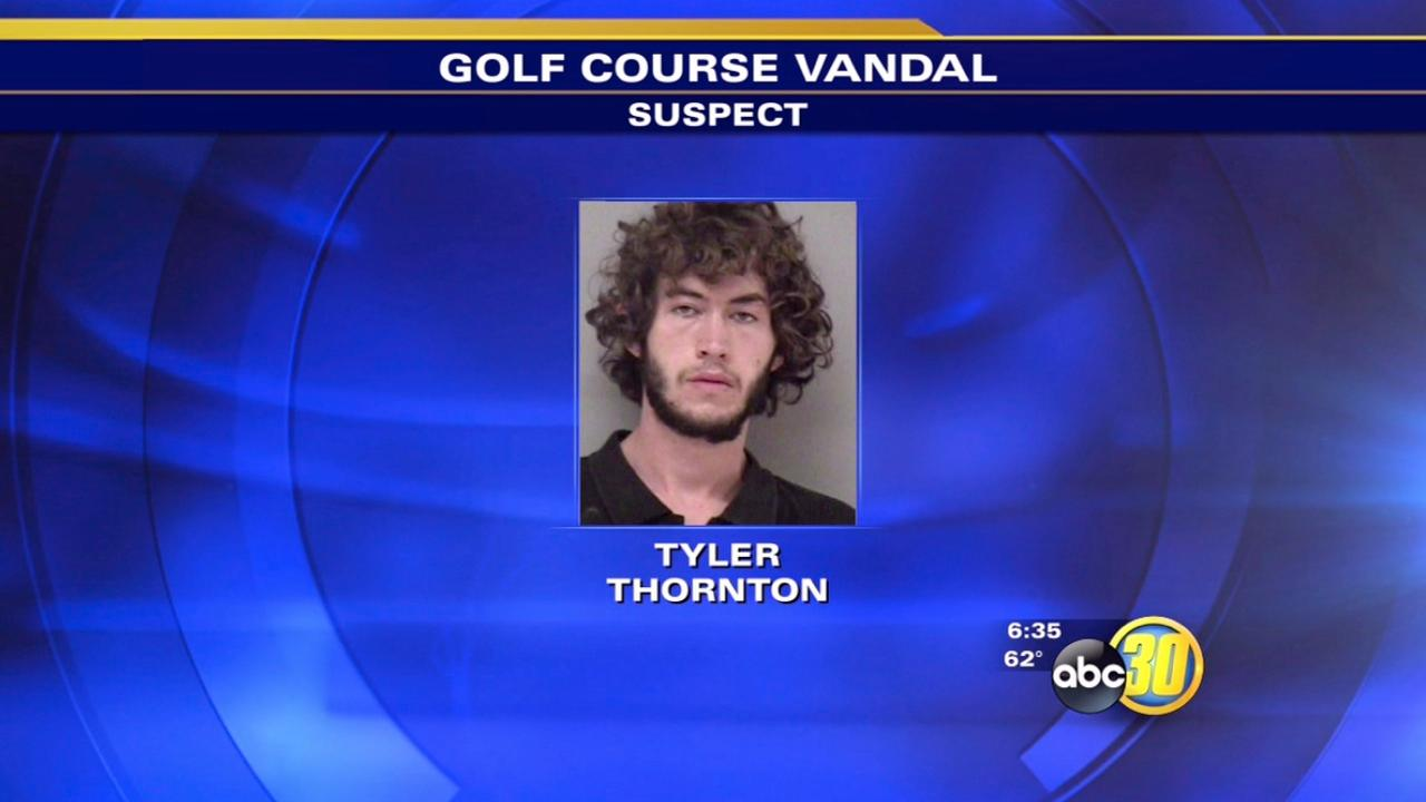 Madera man arrested in golf course vandalism
