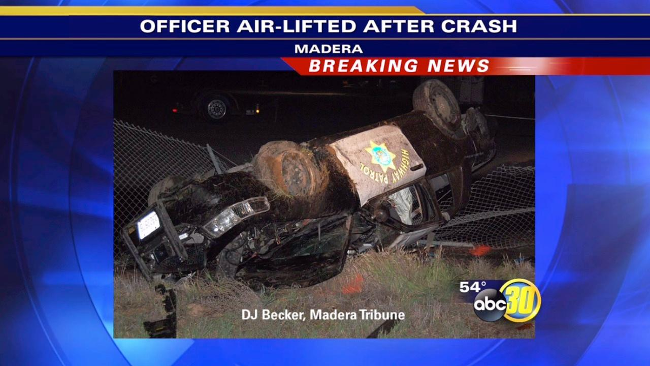 Highway Patrol officer injured in Madera chase