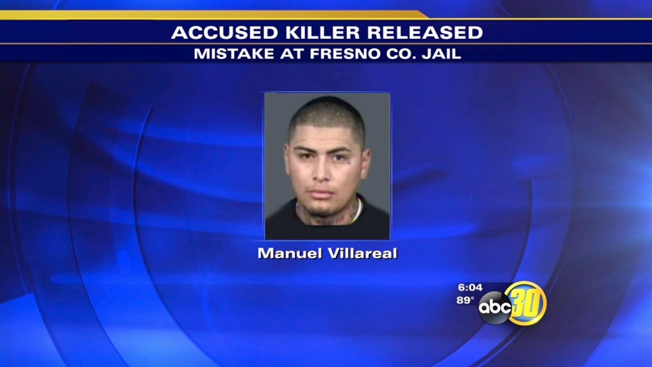 Accused killer nabbed after mistaken release from jail
