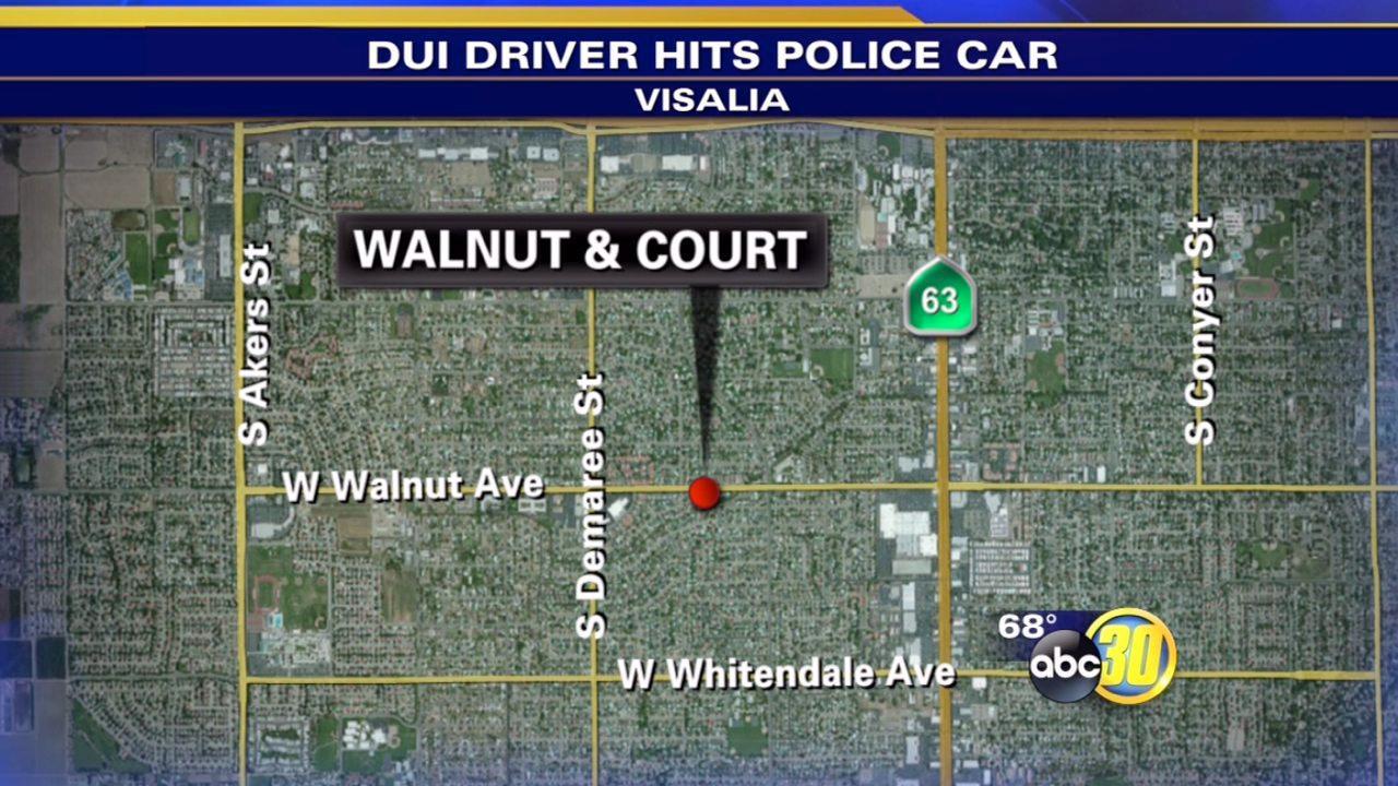 DUI suspect rear-ends Visalia police car twice