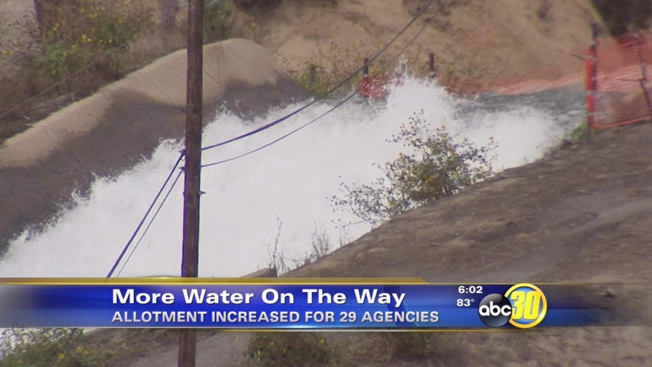 California farmers to get more water