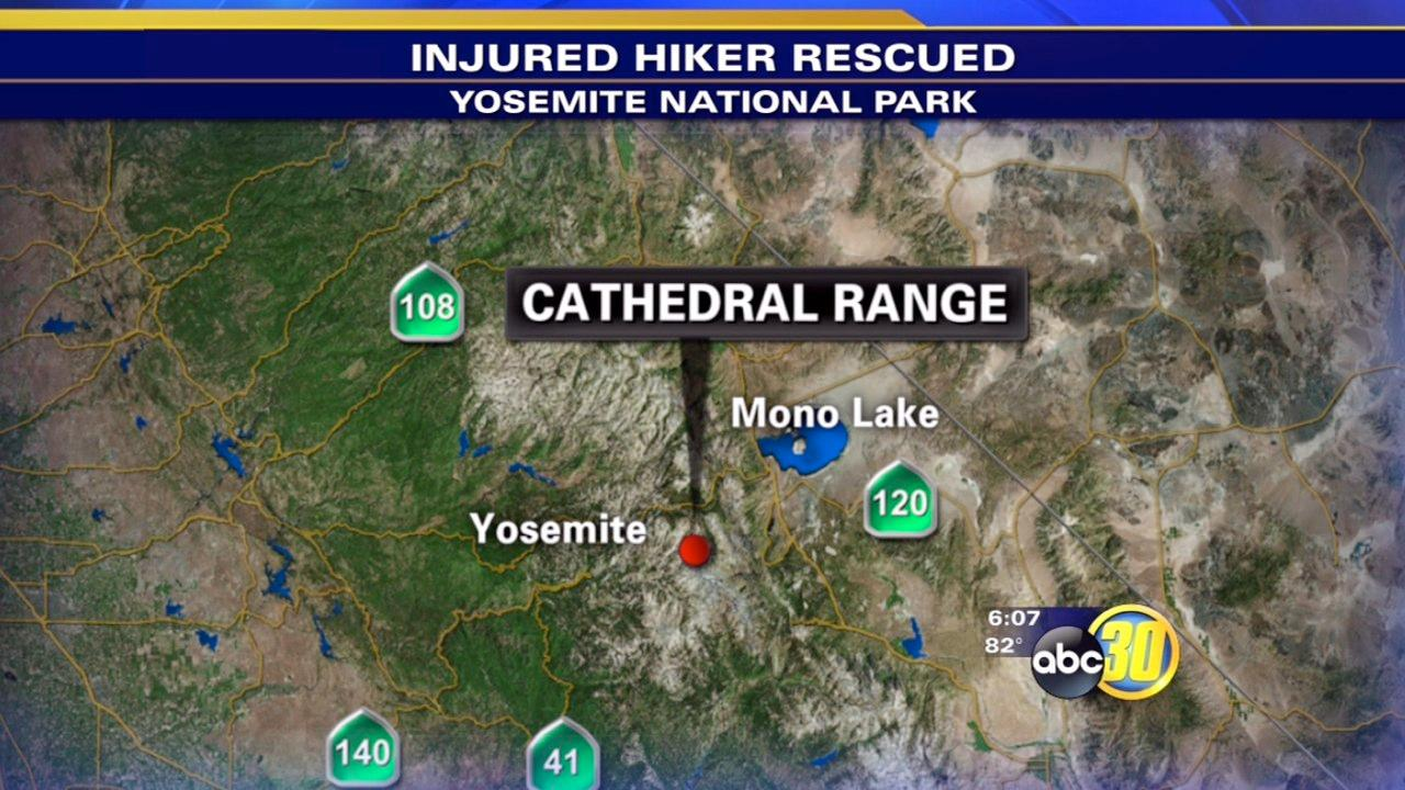 Helicopter rescues injured hiker in Yosemite