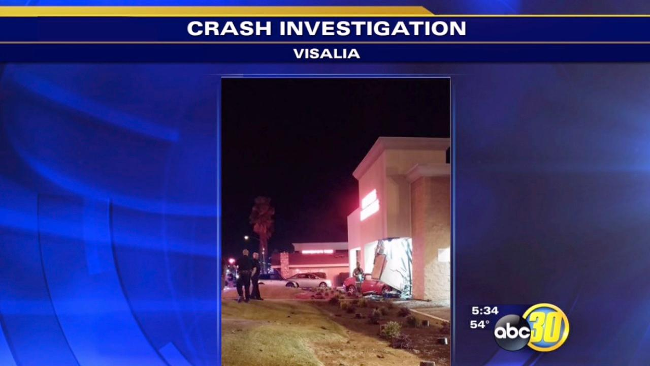 Visalia Police: Street racer crashes into mattress store