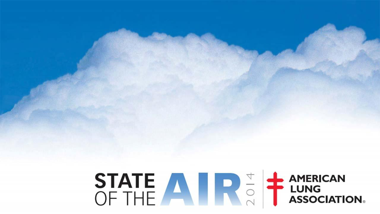 Cover of the American Lung Association State of the Air 2014 report