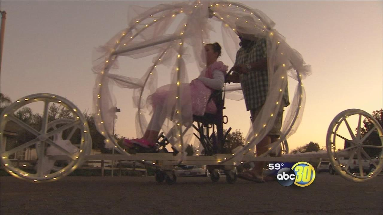 Dad makes princess carriage for special needs daughter