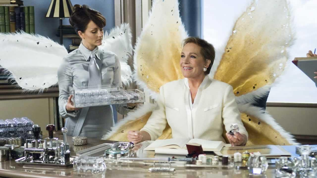In this film publicity image released by 20th Century Fox, Julie Andrews, right, is shown in a scene fron The Tooth Fairy.