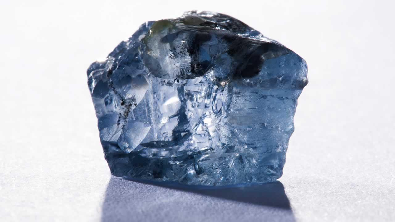 Image taken Friday Jan. 18, 2014 and made available by Petra Diamonds of a 29.6 carat blue diamond which was recovered at the Cullinan Diamond Mine near Pretoria, South Africa.