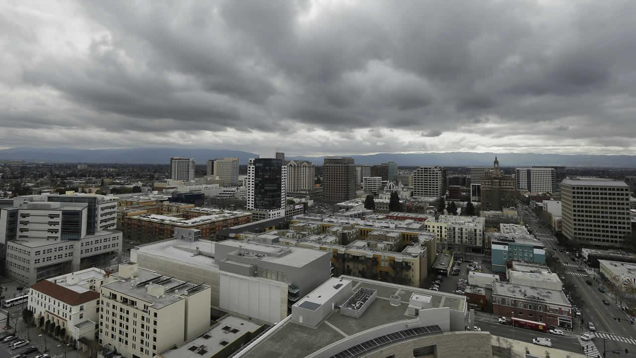 The San Jose skyline is seen from City Hall in San Jose, Calif., Tuesday, Feb. 5, 2013. The Silicon Valley is leading the rest of the country out of the recession with increased jobs, income and initial public offerings last year