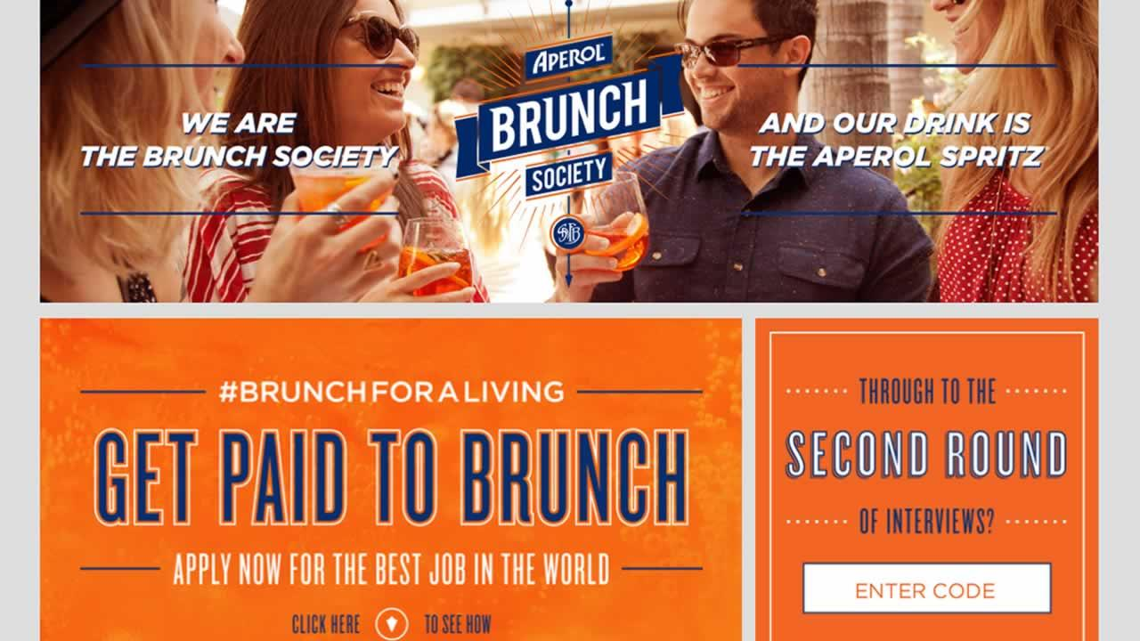 Acohol company Aperol is in search of a professional bruncher.