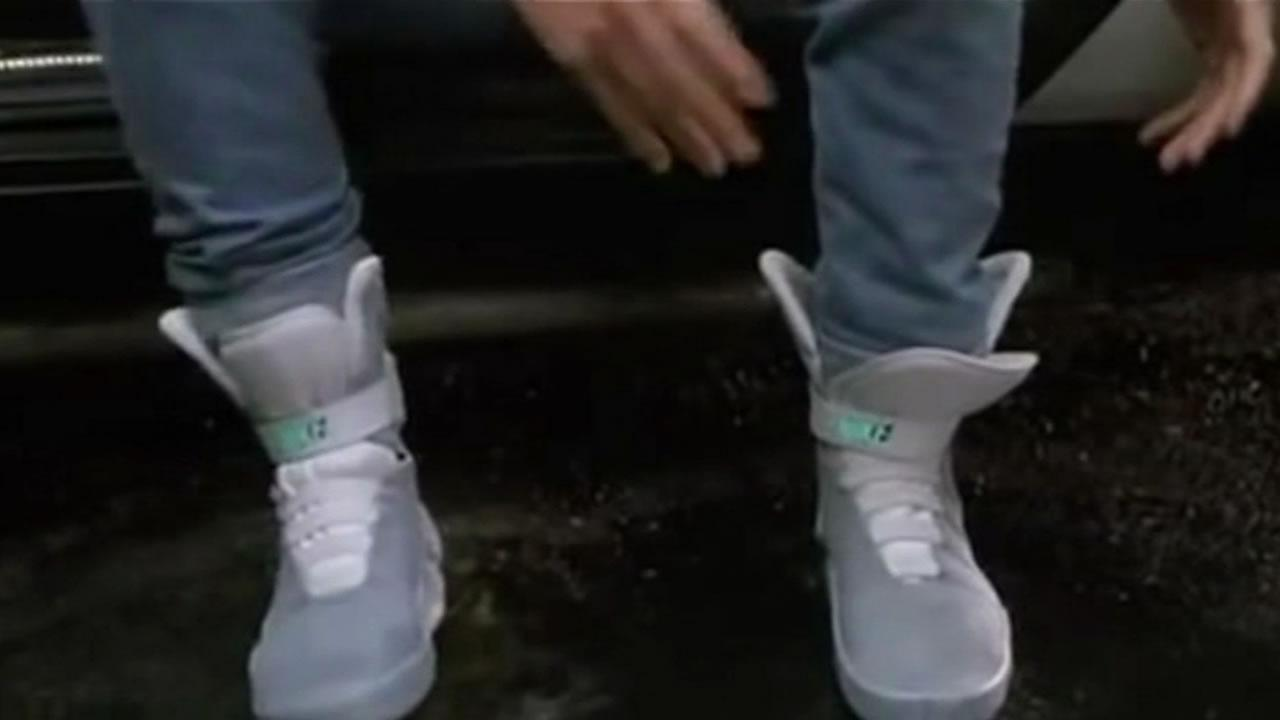 Marty McFlys Nike Mags shoes in Back to the Future Part II.
