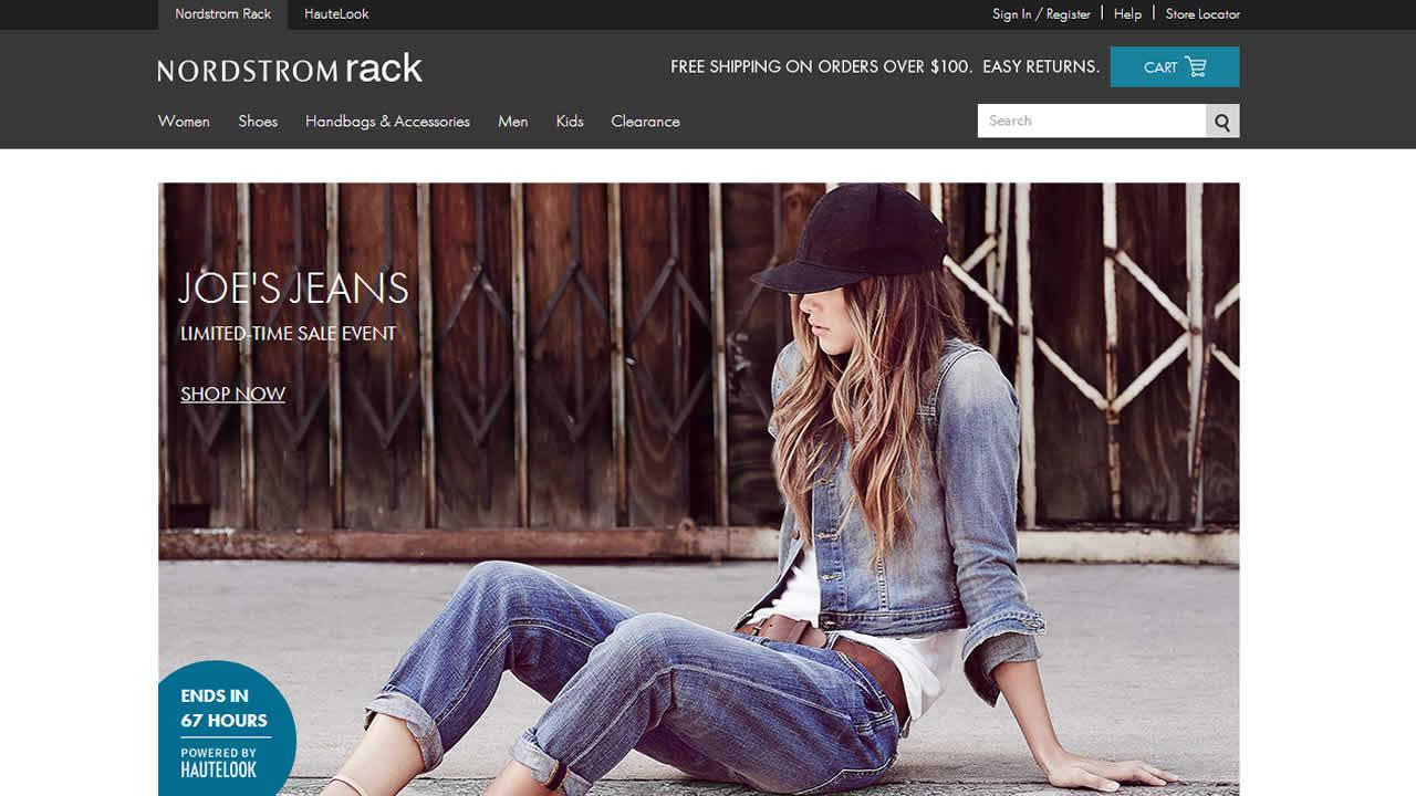 Nordstrom Rack launched a website and app to offer shoppers greater access to its merchandise.