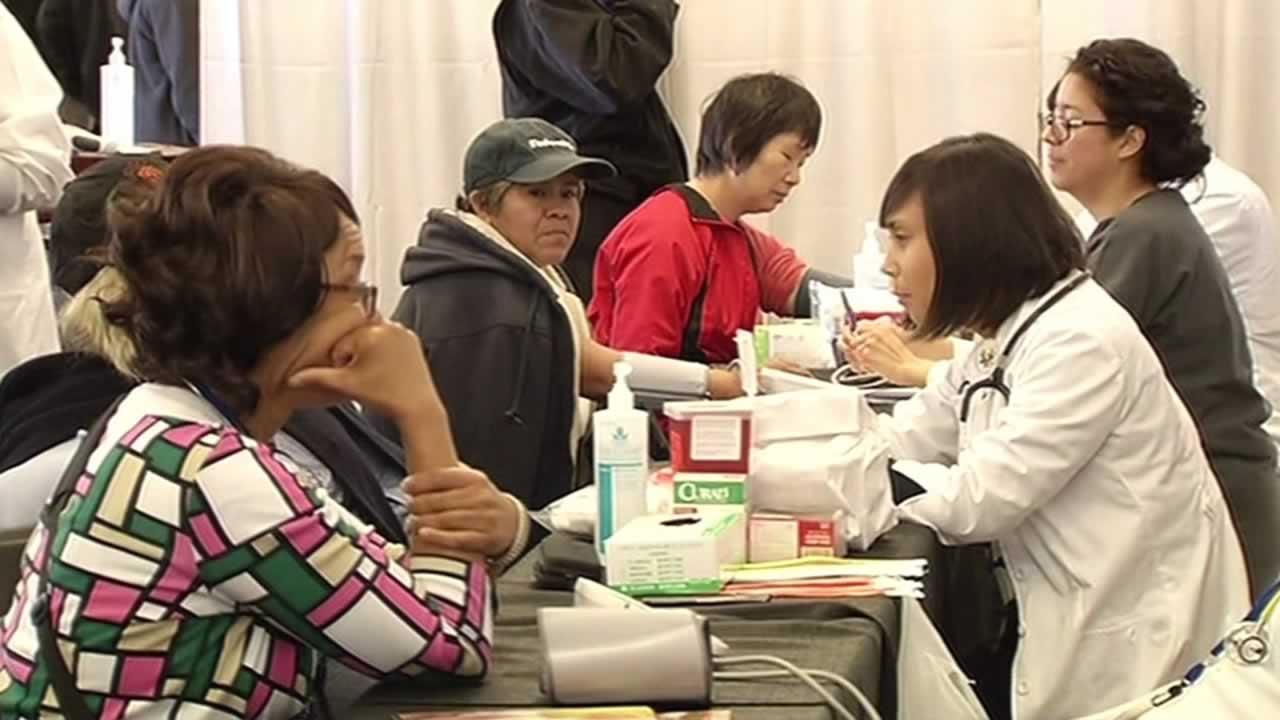 Free healthcare and dental events in the Bay Area have drawn long lines and in some cases, capacity crowds.