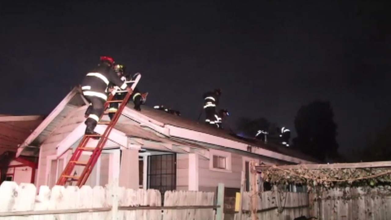 Oakland fire scene