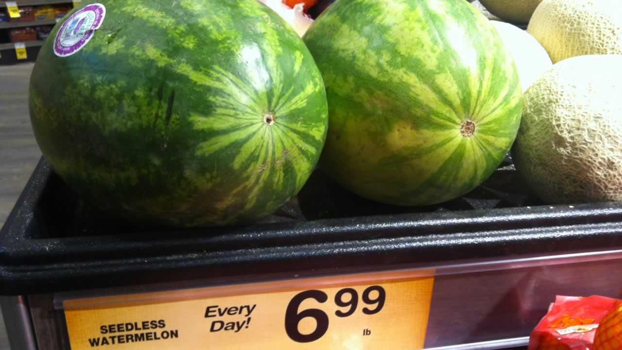 A pricing error at an East Bay supermarket sent the cost of watermelons skyrocketing to nearly $100.