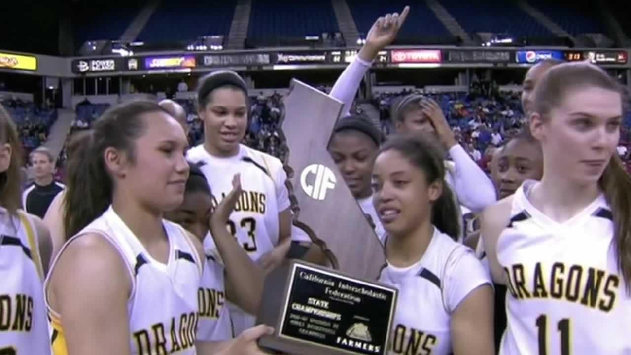 Bishop ODowd High School girls basketball team.