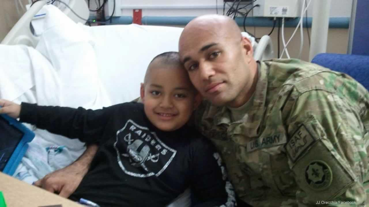 Six-year-old Joseph Orecchia, who goes by JJ, has a rare form of bone cancer.